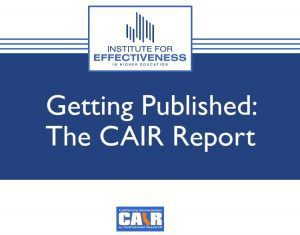 Cover Slide for Getting Published-The CAIR Report-CAIR 2019 presentation