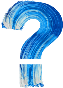 Image of Painted Question Mark Symbolizing the five IPEDS questions