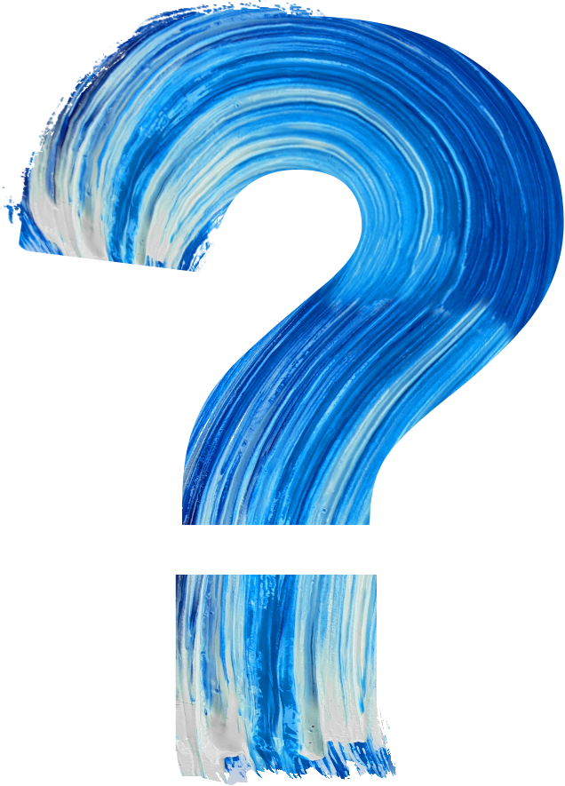 Image of Painted Question Mark Symbolizing the five questions