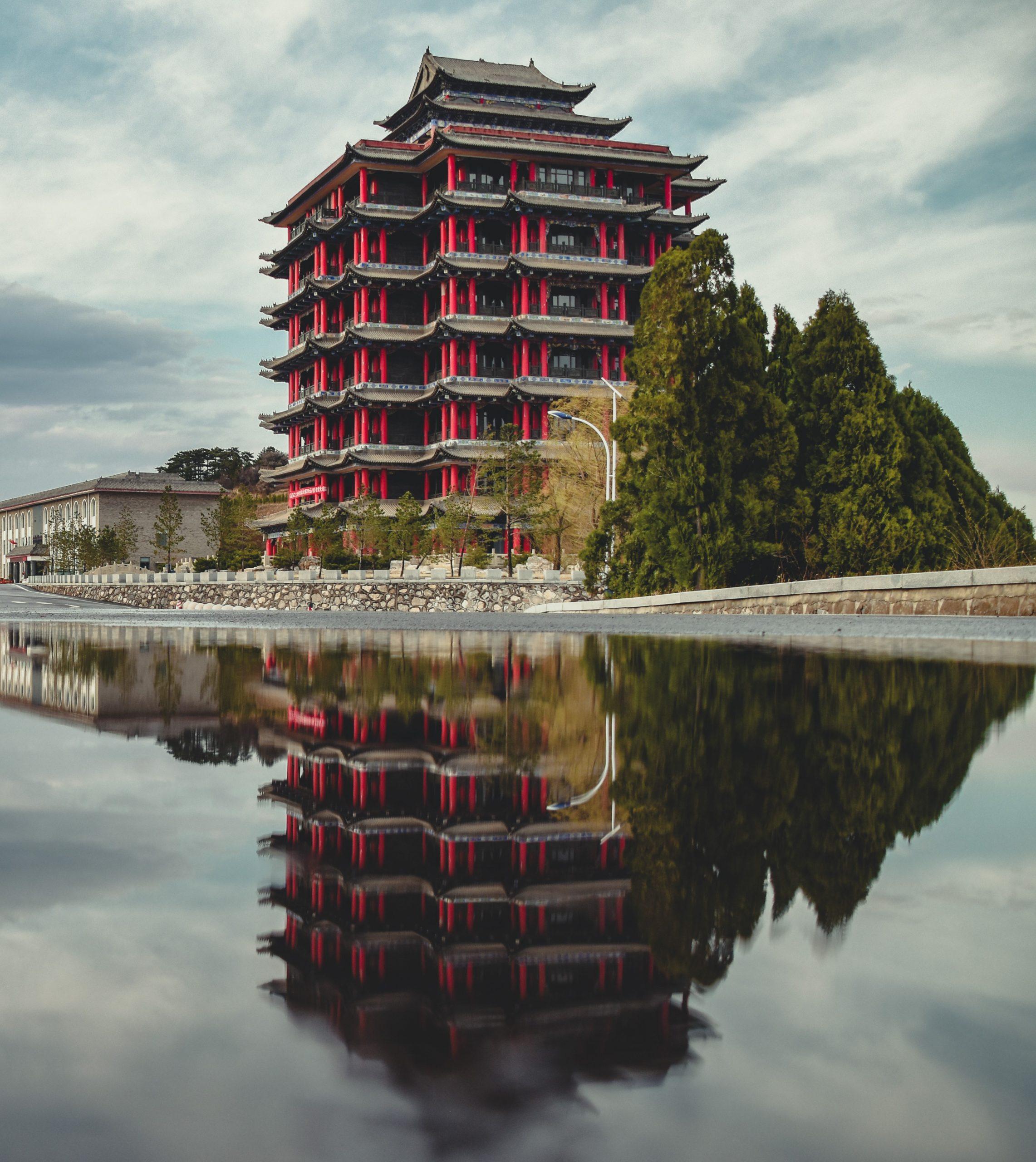 Gray and Brown Pagoda symbolizing International Studies