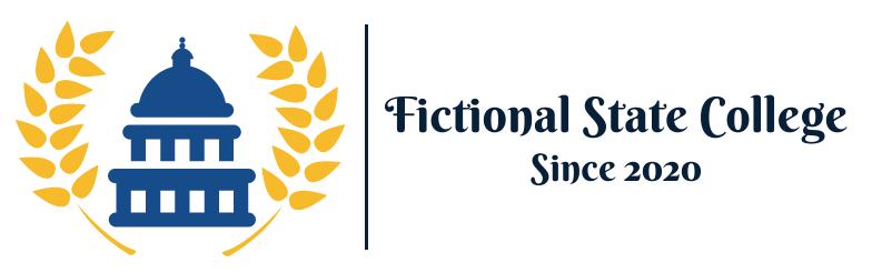 Fictional State College horizontal logo